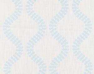 27127-001 FOGLIA EMBROIDERY Sky Scalamandre Fabric