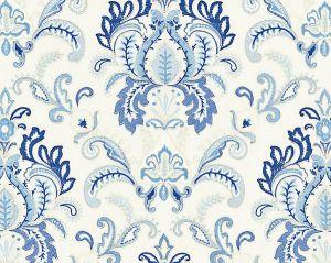 27164-001 AVA DAMASK EMBROIDERY Porcelain Scalamandre Fabric