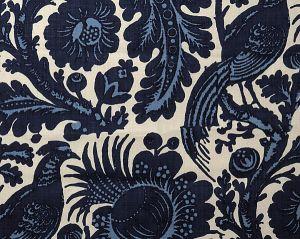 36389-001 SPOLETO Light Dark Blue On White Scalamandre Fabric