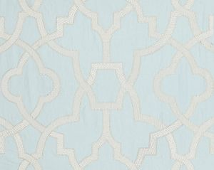 27073-002 DAMASCUS EMBROIDERY Blue Mist Scalamandre Fabric