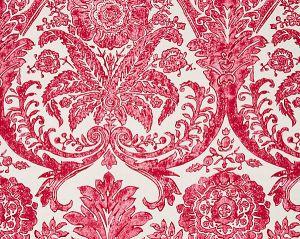 SC 0002WP88354 LUCIANA DAMASK PRINT Raspberry Scalamandre Wallpaper