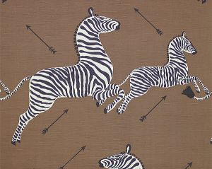 16496M-003 ZEBRAS SC Safari Brown Scalamandre Fabric