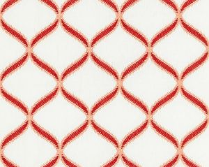 27074-003 RONDURE EMBROIDERY Coral Scalamandre Fabric