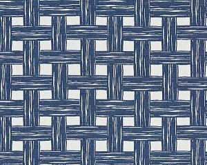 27059-004 BAMBOO LATTICE Denim Scalamandre Fabric