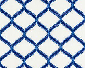 27074-004 RONDURE EMBROIDERY Cobalt Scalamandre Fabric