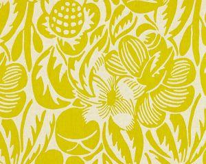 27131-004 DECO FLOWER Chartreuse Scalamandre Fabric