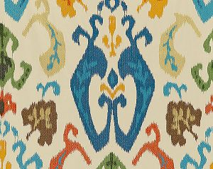 27172-004 MANDALAY IKAT EMBROIDERY Spice Market Scalamandre Fabric