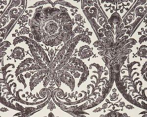 SC 0004WP88354 LUCIANA DAMASK PRINT Graphite Scalamandre Wallpaper