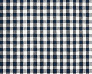 27166-005 SWEDISH LINEN CHECK Indigo Scalamandre Fabric