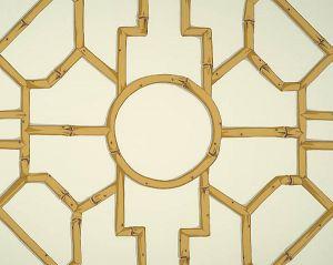 WP81630-005 BALDWIN BAMBOO Rattan Brown On Off White Scalamandre Wallpaper