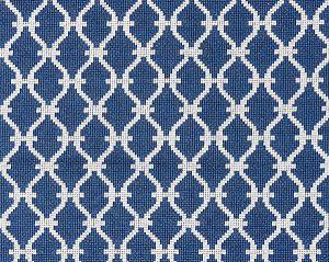 27009-007 TRELLIS WEAVE Denim Scalamandre Fabric