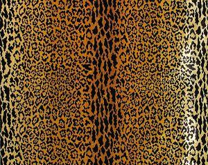 Y0 00010690 LEOPARD VELVET Gold Brn Old World Weavers Fabric