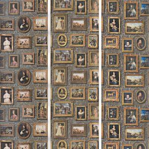 AMW10031-21 GALLERY Charcoal Kravet Wallpaper