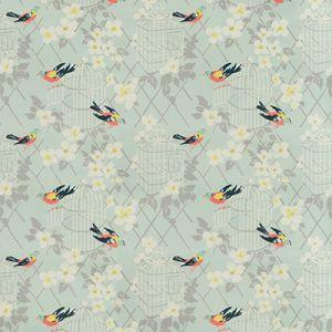 BIRDSONG-35 Aqua Kravet Fabric