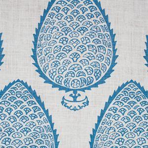 LEAF Blue Katie Ridder Fabric