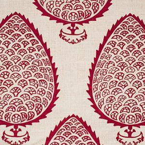 LEAF Raspberry Katie Ridder Fabric