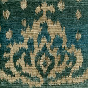 010903T ALY KHAN Multi Turquoise Quadrille Fabric