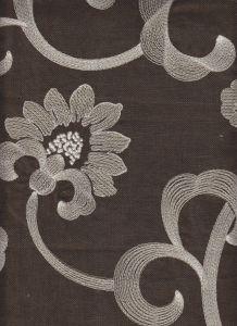 020130T-E ASHLEY FALLS EMBROIDERY Beige Brown Quadrille Fabric