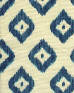 9040-06 BALI DIAMOND Multi Blues on Tint Quadrille Fabric