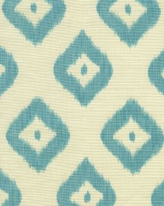 9040-03 BALI DIAMOND Turquoise on Tint Quadrille Fabric