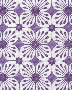 8250-03 BARBADOS BATIK Purple Medium Purple on White Quadrille Fabric