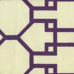 300407F BRIGHTON Purple on Tint Quadrille Fabric