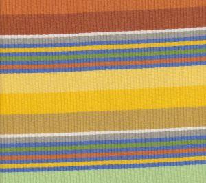 7280-04 CABANA STRIPE Multi Oranges Greens Yellow Quadrille Fabric