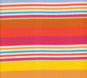 7280-02 CABANA STRIPE Multi Pink Orange Yellow Quadrille Fabric