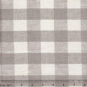 010801T COUNTY CHECK Natural White Quadrille Fabric