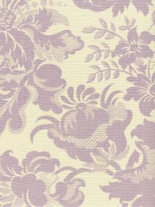 306083F DES GARDES Soft Lavender on Tint Quadrille Fabric