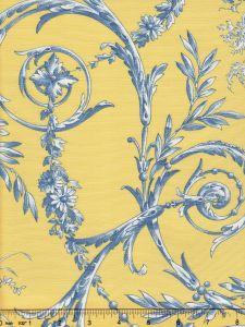 Jaune_2478-108 DIVA POPLIN Bleu Quadrille Fabric