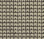 4040-10 FEZ BACKGROUND Black on Tan Quadrille Fabric