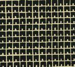 4045-10 FEZ II Black on Tan Quadrille Fabric