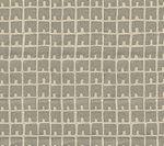 4045-06 FEZ II Silver Metallic on Tan Quadrille Fabric