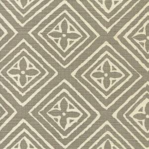 2490-02 FIORENTINA Pewter on White Quadrille Fabric