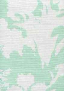 8320-03 FLOWERS II BACKGROUND Aqua on White Custom Only Quadrille Fabric