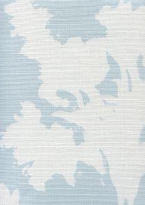 8320-02 FLOWERS II BACKGROUND Windsor Blue on White Custom Only Quadrille Fabric