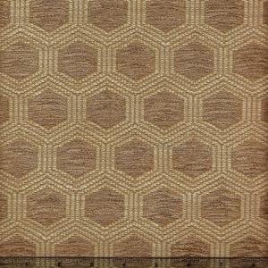 010971T HEXAGON Taupe Quadrille Fabric