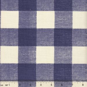 302528F HINGHAM PLAID New Navy on Tint Quadrille Fabric