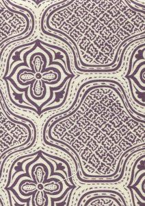 7140-08 HMONG BATIK Purple on Tint Quadrille Fabric