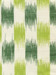 9015-05 II BLUE IKAT Lime Forest on Tint Quadrille Fabric