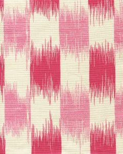 9015-03 II BLUE IKAT Magenta Pink on Tint Quadrille Fabric