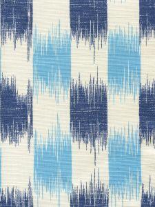 9015-04 II BLUE IKAT Sky Navy on Tint Quadrille Fabric