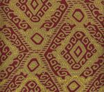 009832T INCA Multi Reds Tan Quadrille Fabric