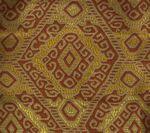 009831T INCA Multi Terracotta Tan Quadrille Fabric