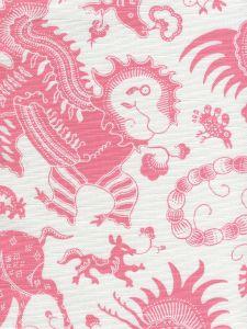 9005-05 INDRAMAYU Dark Pink on White Quadrille Fabric