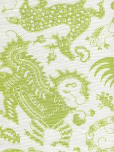 9005-06 INDRAMAYU Jungle Green on White Quadrille Fabric