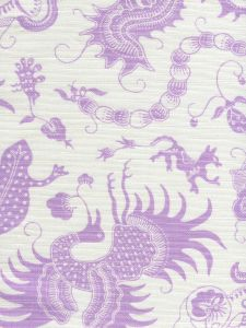 9005-02 INDRAMAYU Lavender on White Quadrille Fabric