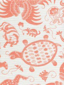 9005-01 INDRAMAYU Melon on White Quadrille Fabric