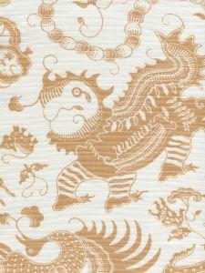 9005-04 INDRAMAYU New Camel on White Quadrille Fabric